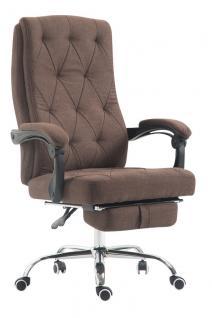 Chefsessel 136 kg belastbar braun Stoff Bürostuhl Fußablage modern design stabil