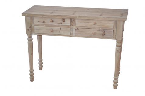 Holz Schreibtisch Konsolentisch natur Tisch massivholz Tanne vintage look design