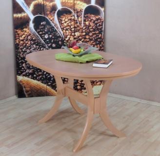 Auszugtisch Einlegplatte Buche natur massivholz oval edler Esstisch erweiterbar