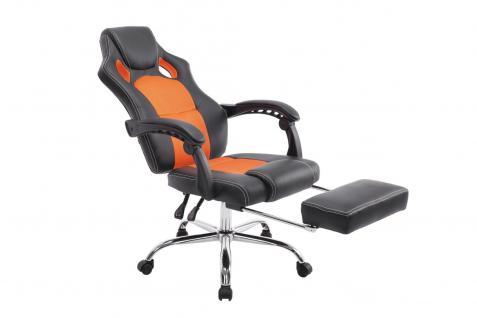 Chefsessel schwarz orange Bürostuhl Kunstleder Gaming Zockersessel günstig neu