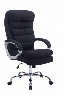 XL Bürostuhl Stoff schwarz dick gepolstert Chefsessel Drehstuhl belastbar stabil