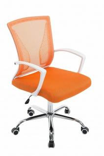 Bürostuhl ergonomisch orange Netzbezug Drehstuhl Computerstuhl stabil belastbar