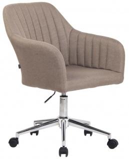 Bürostuhl Stoff taupe Schreibtischstuhl Drehstuhl Arbeitshocker modern design