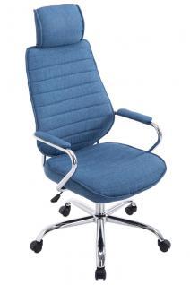 Chefsessel blau Stoff bis 120 kg Bürostuhl hochwertig Drehsessel modern design