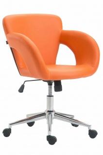 Bürostuhl orange 136 kg belastbar Kunstleder Drehstuhl modern design stylisch