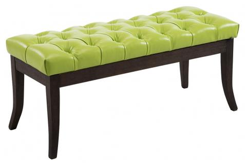 Sitzbank Antik grün 100 cm Kunstleder Vintage Chesterfield Design Hockerbank