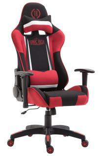 XL Bürostuhl schwarz rot Stoffbezug Bürostuhl modern design hochwertig Gamer