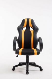 XL Bürostuhl 136kg belastbar schwarz gelb Kunstleder Chefsessel schwere Personen - Vorschau 2