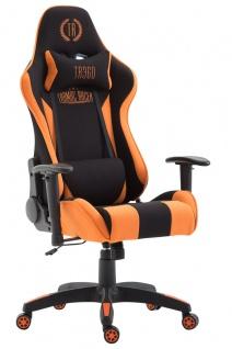 Bürostuhl 136 kg belastbar Chefsessel Zocker Gaming Gamer sportlich orange