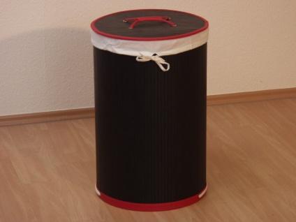 Wäschekorb Stoffeinsatz schwarz Wäschetruhe Wäschesammler Wäschebox Wäschetonne