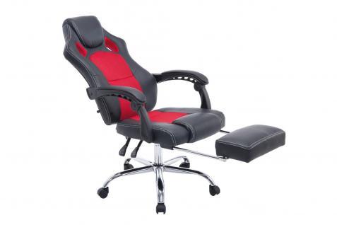 Chefsessel schwarz rot Bürostuhl Kunstleder Gaming Zockersessel design günstig