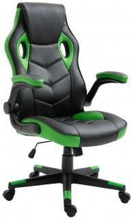 Racing Bürostuhl schwarz/grün Computerstuhl Schreibtischstuhl sportlich stabil