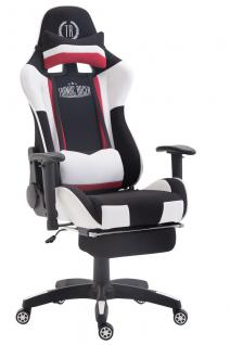 XL Chefsessel schwarz weiß Stoffbezug Bürostuhl modern design hochwertig stabil