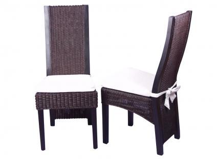 2er Set Rattansessel braun massivholz Pinie Rattan Rattanstuhl modern design