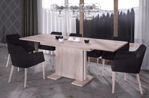 design Säulentisch 130-210 San Remo hell ausziehbar Esstisch günstig hochwerig