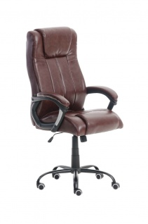 Bürostuhl bordeauxrot 150 kg belastbar Chefsessel Kunstleder Drehstuhl stabil