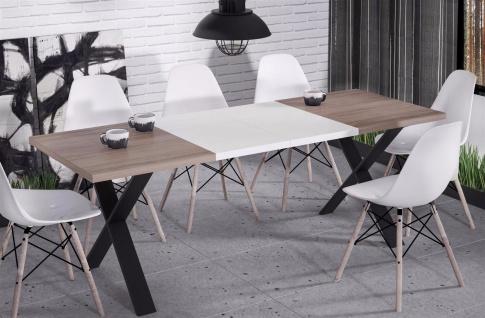 hochwertiger Esstisch 130-170 ausziehbar Wildeiche Küche Esszimmer Metall modern