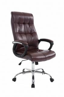 XL Chefsessel 160 kg belastbar bordeauxrot feinstes Kunstleder Bürostuhl günstig