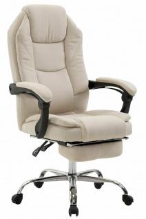 Chefsessel creme Stoff 130kg belastbar Bürostuhl Schreibtischstuhl stabil robust