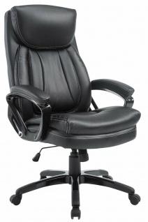 XXL Bürostuhl 180 kg belastbar schwarz Kunstleder Chefsessel schwere Personen