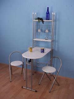 Wandtisch klappbar weiß Esstisch Küchentisch Klappstuhl 2er Set Küchentheke neu