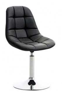 Esszimmerstuhl schwarz drehbar Kunstleder Küchenstuhl design modern hochwertig