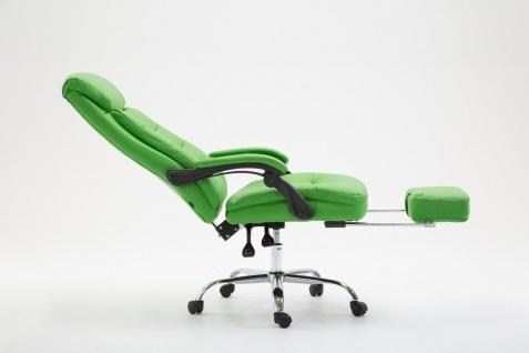 XL Chefsessel belastbar 136kg Kunstleder grün Bürostuhl Fußablage modern design - Vorschau 3