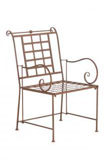 Gartenstuhl antik braun Lounge Garten Terrasse Nostalgie design Vintage Eisen
