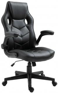 Racing Bürostuhl schwarz Computerstuhl Schreibtischstuhl sportlich stabil NEU