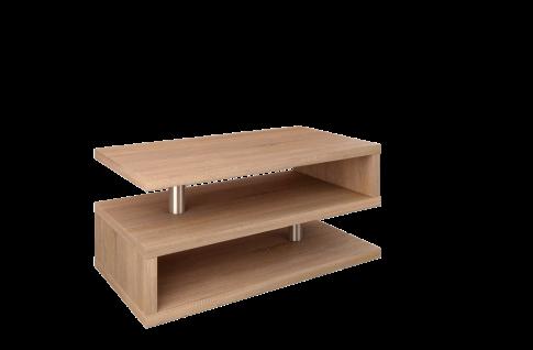 design Couchtisch Sonoma Eiche Ablage Wohnzimmertisch moderner Sofatisch günstig
