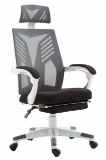 Bürostuhl bis 120kg belastbar weiß grau Chefsessel Netzbezug modern design