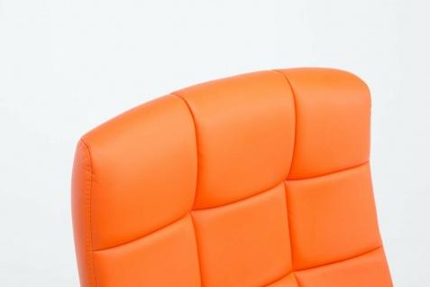 Drehstuhl bis 120 kg belastbar Kunstleder orange Computerstuhl Schreibtischstuhl - Vorschau 5