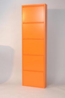 Metall-Schuhschrank orange 5 Klappen Schuhkipper Schuhregal preiswert günstig