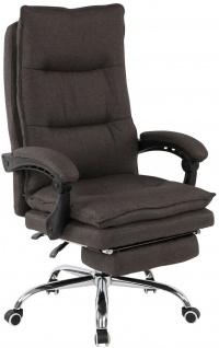 Bürostuhl 136 kg belastbar dunkelgrau Stoffbezug Chefsessel Drehstuhl stabil