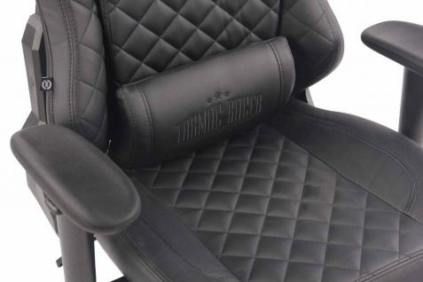 XL Bürostuhl 150 kg belastbar schwarz Kunstleder Chefsessel Gamer Gaming Zocker - Vorschau 4