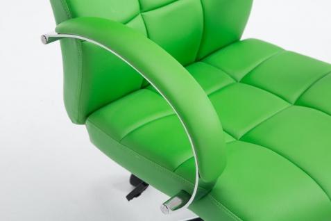 Bürostuhl 120 kg belastbar Kunstleder grün Chefsessel hochwertig stabil neu - Vorschau 5