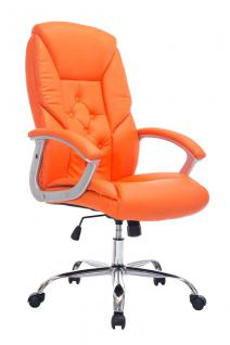 XXL Chefsessel orange Bürostuhl stabil belastbar hochwertig modern exklusiv neu
