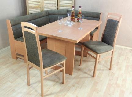 Truheneckbankgruppe natur olive Eckbankgruppe Eckbank Truheneckbank Stühle Tisch
