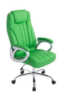 XXL Bürostuhl bis 150 kg belastbar grün Kunstleder Chefsessel preiswert neu