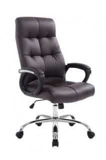 Bürostuhl 160 kg belastbar Kunstleder braun Chefsessel für schwere Personen