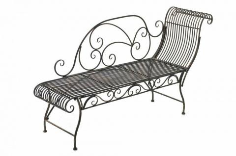 Gartenbank bronze Eisen Sitzbank Gartenliege romantisch antik Nostalgie Vintage