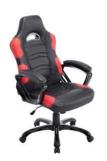 Bürostuhl 150 kg belastbar schwarz rot sportlich Chefsessel schwere Personen