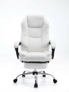 Bürostuhl 120 kg belastbar weiß Kunstleder Chefsessel Computerstuhl Drehstuhl