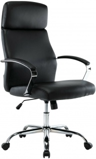 XL Chefsessel 136 kg belastbar schwarz Kunstleder Bürostuhl modern design NEU