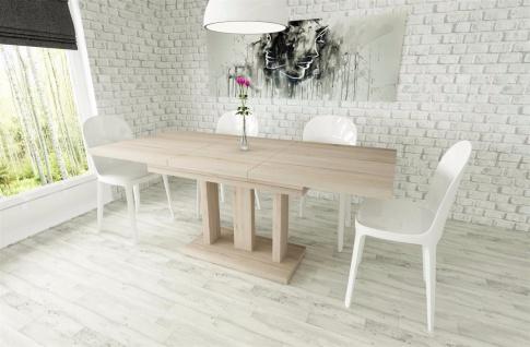 Säulentisch Esstisch Ausziehbar edler Auszugtisch günstig design Ausziehtisch