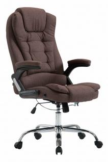 XL Bürostuhl 150kg belastbar braun Stoffbezug Chefsessel Drehstuhl Computerstuhl