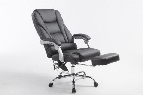 XXL Bürostuhl 150 kg belastbar schwarz Kunstleder Chefsessel Massagefunktion - Vorschau 5