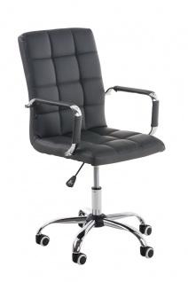 Bürostuhl grau Kunstleder Chefsessel hochwertig günstig modern design belastbar