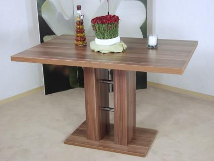 Säulentisch kernnuss Esstisch Esszimmertisch Tisch Küchentisch Esszimmer Küche