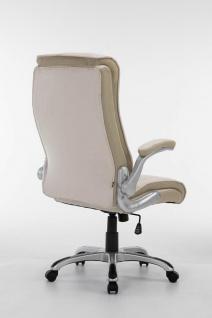 XL Chefsessel 150 kg belastbar creme Kunstleder Bürostuhl große schwere Personen - Vorschau 5